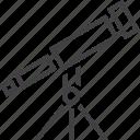 exploration, spyglass, telescope icon