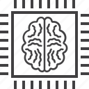 artificial, brain, chip, intelligence icon
