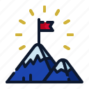 achievement, business, goal, mountain, new business, start up, startup icon