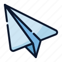 business, creativity, new business, paper plane, send, start up, startup icon