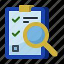 clipboard document, start up, business, magnifier, startup, new business, audit