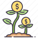business, cash, coin, dollar, growth, income, money icon