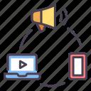 business, communication, digital, internet, marketing, media, technology icon