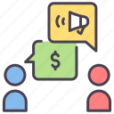 business, chat, conversation, marketing, online, social, target icon