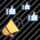 advertising, business, communication, marketing, media, social, viral icon