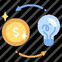 business, capital, idea, innovation, investment, money, venture icon
