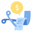 business, expenses, finance, financial, general, money, reduce icon