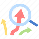 business, market, marketing, plan, success, trend, growth icon