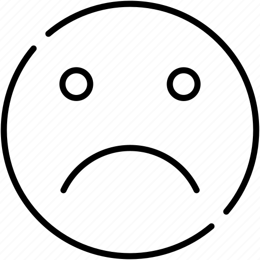 business, disappointed, emoticon, expression, not satisfied, symbolicon icon