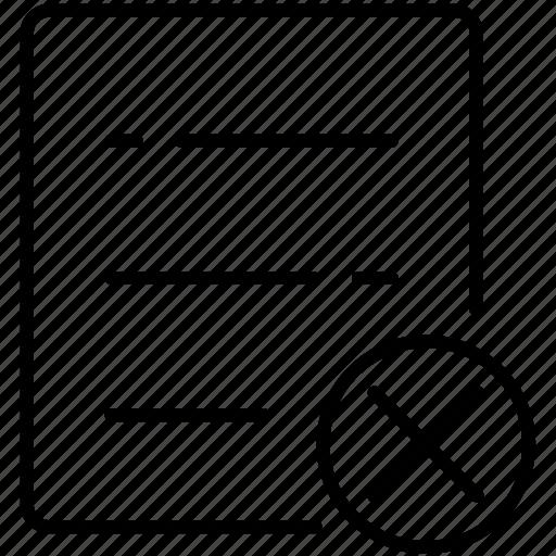 business, check, delete, list, symbolicon icon