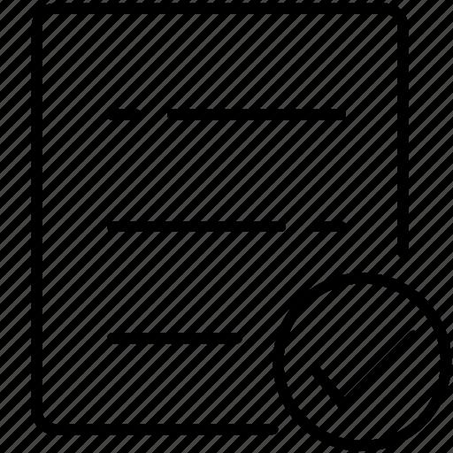 business, check, check list, symbolicon icon