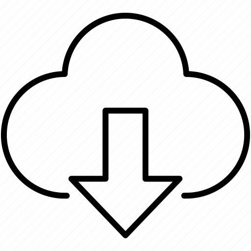 business, cloud, cloud computing, download, symbolicon icon