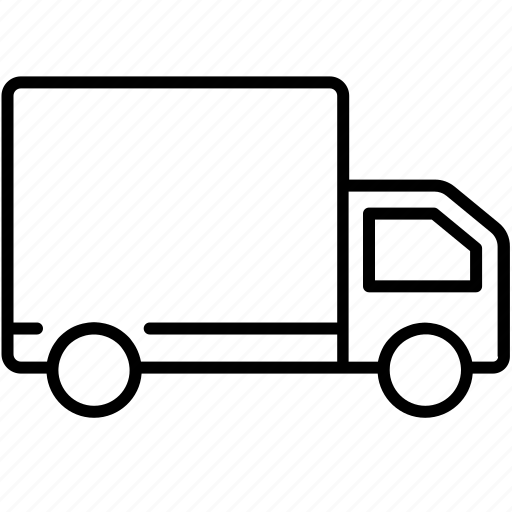 box, business, car, delivery, shipping, symbolicon, van icon