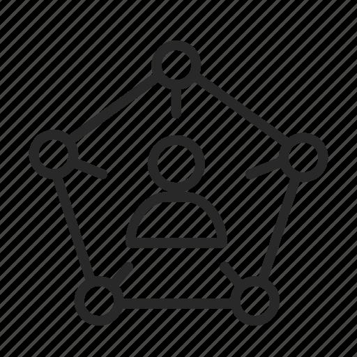 command, development, director, hierarchy icon