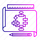 business, chart, flow, of, operations, tactics icon