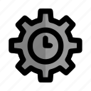clock, management, productivity, start, time, up, work icon
