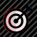 concept, dartboard, efficiency, goal, start, target, up icon