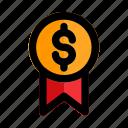 badge, champion, medal, start, up, winner icon
