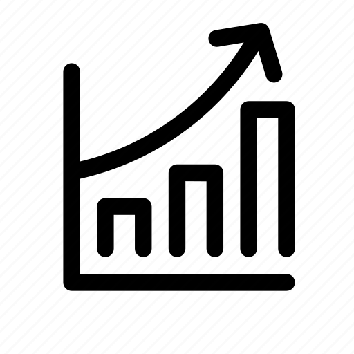 chart, graph, increase, money, rise, startip, startup icon