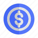 cash, coin, currency, finance, money, payment, start, up icon