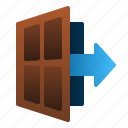 arrow, business, door, exit, startup, strategy