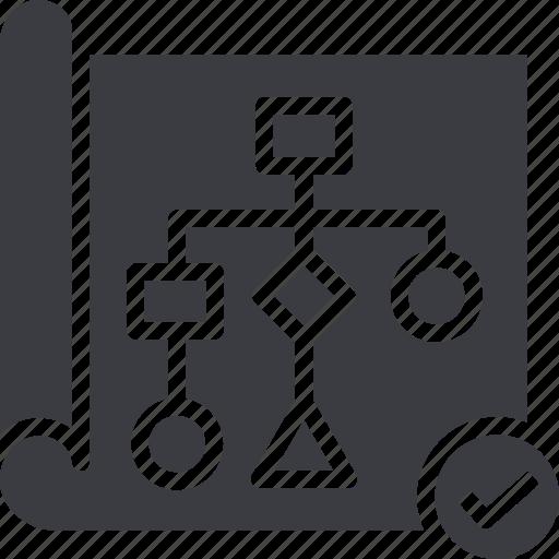 diagram, line, linear, outline, scheme, workflow icon