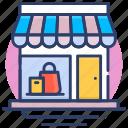 front, online, shop, store, window