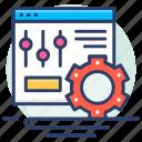 database, internet, panel, setting