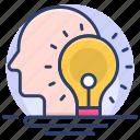 brain, glow, light, mind, thinking