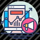 advertising, analytics, marketing, megaphone, optimization