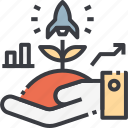 business, grow, growing, growth, innovation, startup, up icon