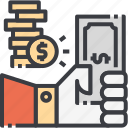 business, cost, costs, dollar, increase, money, optimization icon