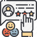 customer, emotional, feedback, happy, review, satisfaction, survey icon
