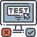 comparison, computer, experiment, technology, test, testing, website icon