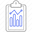 analysis, analytics, clipboard, graph, statistics icon