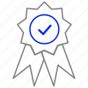 certficate, medal, quality, win icon