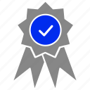award, certficate, medal, quality, win icon