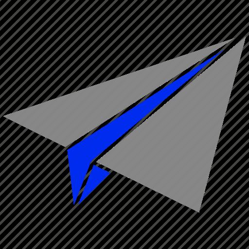 mail, message, paper, plane, send icon