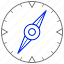 arrows, compass, direction, navigation icon