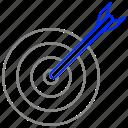 bullseye, goal, success, target icon