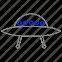 alien, launch, space, spaceship, ufo icon