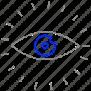 explore, eye, view, vision icon