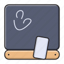 blackboard, classroom, education, school, stationary