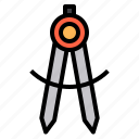 compass, miscellaneous, tool, utensils icon