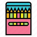 art, colour, draw, drawing, pencil, stationary icon