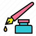 document, ink, office, pen, write, writte icon