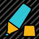 marker, office, paper, pen, stabilo, write, writte icon