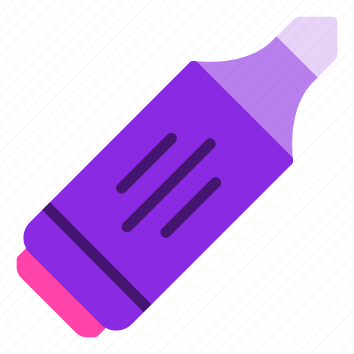 book, highlighter, important, office, stationery icon