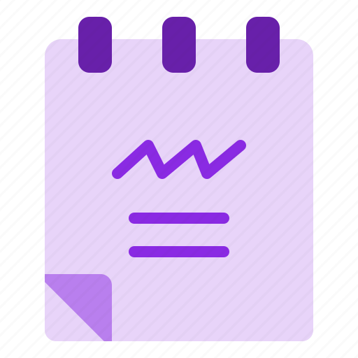 document, notebook, office, paper, stationery icon