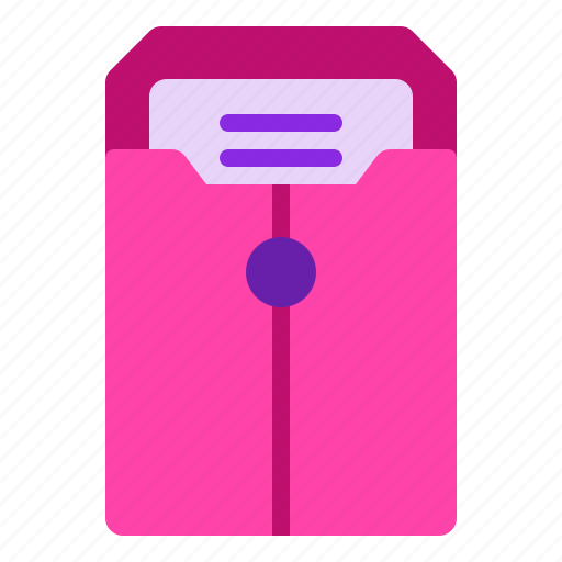 document, folder, map, office, stationery icon
